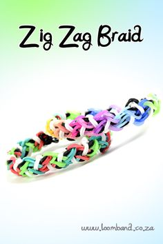 Zig Zag braid loom band bracelet tutorial