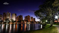 Lago Igapó com a Gleba Palhano ao fundo (Igapo Lake/Gleba Palhano). Londrina, Paraná, Brazil. | Photo: Wilson Vieira.
