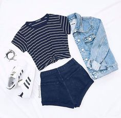 Imagen de Kleidung, Mode und Outfit - New Site Casual School Outfits, Cute Comfy Outfits, Cute Casual Outfits, Swag Outfits, Cute Summer Outfits, Mode Outfits, Pretty Outfits, Stylish Outfits, Outfit Summer