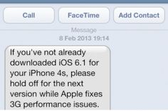 While some of us are regretting updating our iPhones to iOS 6.1 those of you who have yet to install the update on your iPhone 4S are being warned by Vodafone not to do so.