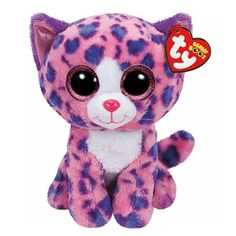 """<P>I'm such a pretty kitty, pink and blue, and when I pick friends, I pick you!</P><P>Your favorite cuddly friend in a bigger size. Regan the cat is an adorable pink plush cat with blue and purple spots and big glittery pink eyes to match. Part of the Ty Beanie Boos collection. Collect them all! </P><UL><LI>Birthday: November 13th<LI>13""""H<LI>Plush</LI></UL>"""