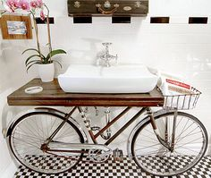 Bathroom or bike room?!