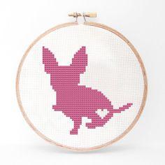 Chihuahua Silhouette Cross Stitch PDF Pattern by kattuna on Etsy