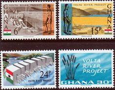 Ghana 1966 Football World Cup Set Fine Mint SG 412/5 Scott 259/63 Other British Commonwealth Empire and Colonial stamps Here