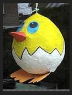 Ballon met papier maché