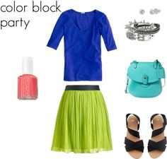 color block party #outfit