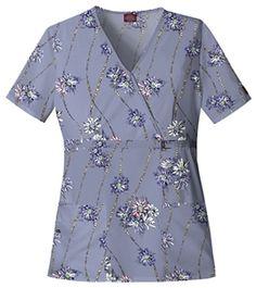"""Dickies Mock Wrap Top in """"Pearl Jane"""" 84732-PJAN Dickies Mock Wrap Top in """"Pearl Jane"""" 84732-PJAN $22.50 #scrubs #scrubcouture #nurses"""