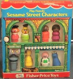 Fisher Price: 1977 Play Family SESAME STREET CHARACTERS #Vintage #Toys