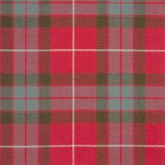 Fraser Red Weathered Lightweight Tartan by the meter – Tartan Shop