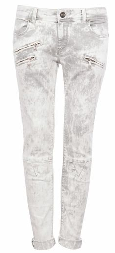 ACID WASH SKINNY LEG TROUSERS WITH ZIP DETAIL - JEANS - WOMAN - PULL&BEAR Greece