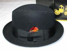 Vintage Hat Men's Homburg by Dobb's New in by ilovevintagestuff