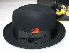Vintage Hat Men's Homburg by Dobb's New in by ilovevintagestuff