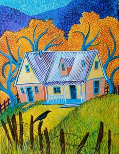 Sally Bartos, New Mexico artist. Her work is available from bartos on Etsy.