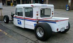 Jeep rat rod mail truck