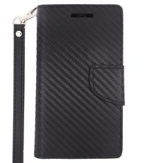 Insten Leather Wallet Flap Pouch Phone Case Cover Lanyard with Stand For Motorola Moto E 2nd Gen