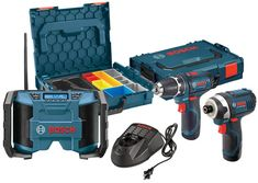 Bosch 12V Drill Impact L-Boxx Radio Combo Kit