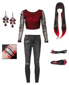 """""""black and red"""" by bandsaremyheartandsoul ❤ liked on Polyvore featuring Ksubi and RED Valentino"""