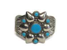 Vintage Bell Trading Nickel Silver Turquoise by BejeweledEmporium