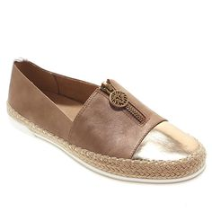 Anne Klein Sport Zetta Espadrille Flat with Zipper Outfit yourself with stylish shoes that keep up with your busy lifestyle. A classic silhouette and designer details give you the look you love with added comfort as a bonus. Leather Ballet Flats, Leather Sandals, Custom Leather, White Leather, Balerina, Shoe Collection, Anne Klein, Ankle Strap, Fashion Shoes