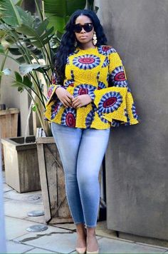 ankara mode Hello fashionistas, top of the day to you and welcome as we look at this trend that has lighted the Ankara fashion in recent years. Today we bring you Super Stylish Ankara Tops Latest African Fashion Dresses, African Dresses For Women, African Print Fashion, African Attire, African Wear, Africa Fashion, African Women, Fashion Prints, African Prints