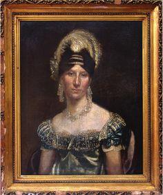 Anónimo ¿mexicano?, Retrato de dama no identificada, óleo sobre tela, 58 x 75 cm., ca. 1820-29, colección particular, catalogación: Juan Carlos Cancino.
