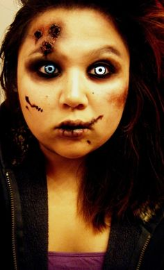 Zombie Child from 25 Best, Crazy & Scary Halloween Make Up Looks & Ideas 2012 For Girls & Women Halloween Zombie Makeup, Unique Halloween Makeup, Easy Halloween, Halloween Costumes, Halloween Pictures, Women Halloween, Halloween Stuff, Zombie Prom, Halloween Designs