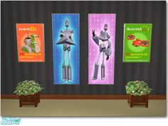 Two mesh files and four color options are included in this set. Found in TSR Category 'Objects' Robot Shop, Sims 2 Games, Robot Factory, Tropical Patio, Garden Globes, Shops, Alien Planet, Space Aliens, Sims Community