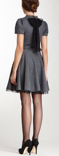 Bow back dress - cute for a holiday party