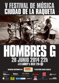 hombres G y Duncan dhu. Festival de Música Ciudad de la Raqueta