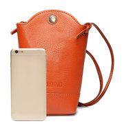 Woman Irregular Little Phone Bag Casual PU Crossbody Bag Bucket Bag