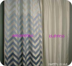 DIY Tutorial: DIY Chevron      / DIY Ombre Painted Chevron Curtains - Bead&Cord