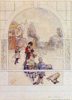 My Loved Ones, aquarelle de Carl Larsson (1853-1919, Sweden)