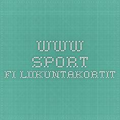 www.sport.fi Liikuntakortit