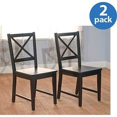 Virginia Crossback Chair Set Of 2 Black *** Find out more about the great product at the image link.Note:It is affiliate link to Amazon.