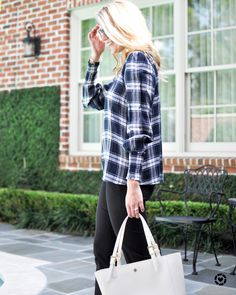Plaid + workwear + Office style + loft + business casual