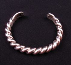 Heavy Navajo Orville Tsinnie Sterling Silver Twist Bracelet - Available in Small, medium or extra large | eBay