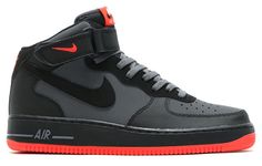 With a neutral theme for Summer or Fall, Nike Sportswear has slowly introduced the Nike Air Force 1 Mid Hot Lava. Nike Shoes Air Force, Nike Air Force Ones, Air Jordan Shoes, Nike Air Max, Best Sneakers, Sneakers Fashion, Sneakers Nike, Black Sneakers, Futuristic Shoes