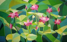 cubism painting - Google keresés Illustration Design Graphique, Art Et Illustration, Floral Illustrations, Art Floral, Art Lotus, Tiffany Art, Polygon Art, Fruit Painting, Art Original
