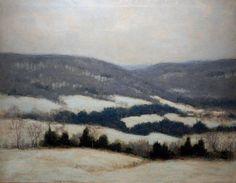 """""""October Mountain in Winter, Lenox, Massachusetts,"""" Clark Voorhees, ca. 1910, oil on canvas, Phoenix Art Museum."""