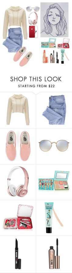 """""""Cameron Mark"""" by dinkums-the-cat ❤ liked on Polyvore featuring Essie, Vans, Ray-Ban and Benefit"""