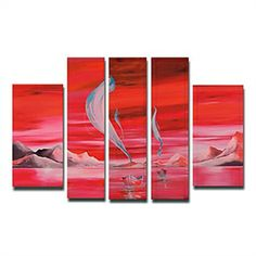 Oil Paintings - Landscape Paintings - Hand-painted Landscape Oil Painting with Stretched Frame - Set of 5