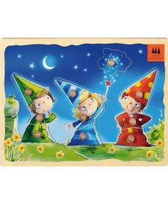 Schmidt Spiele ★ Holzpuzzle Drei kleine Magier