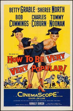 20Th Century Fox Movie Posters | How to Be Very, Very Popular (20th Century Fox, 1955) Movie Poster