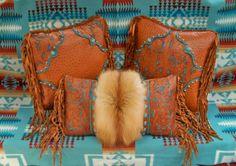 Gorgeous Leather pillows