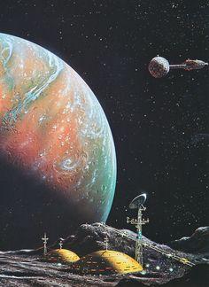 scifiseries:   Terraforming Mars, by David Hardy - Olivia Black