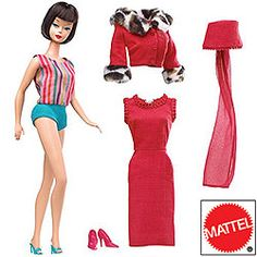 In celebration of the 50th anniversary of the world's first fashion doll, Mattel® has reissued some of their earliest Barbies for the adult collector.