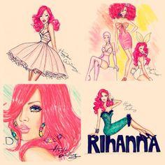 Rihanna LOUD era illustrations