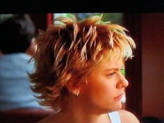 15 Important Life Lessons Meg Ryan Short Hairstyles Taught Us .Meg Ryan Discusses Her Famous Hair Instyle Com Cute .Loved her hair like this, from the movie, French Kiss~ soooo cute!Always loved Meg Ryan's hair and how it sort of looks like she cut it her Meg Ryan Haircuts, Meg Ryan Hairstyles, Hairstyles Haircuts, Short Curly Haircuts, Cute Hairstyles For Short Hair, Short Hair Cuts, Meg Ryan Short Hair, Medium Hair Styles, Short Hair Styles