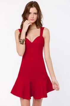 Sexy red party dress