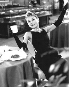 Audrey Hepburn for Breakfast at Tiffany's, 1961.